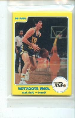 1985 Star Utah Jazz 7 Card John Stockton 2nd Year Original S