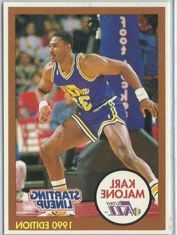 1990 Karl Malone Utah Jazz White Card Starting Lineup SLU NB