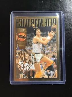 1994 Action Packed PETE MARAVCH Utah Jazz GOLD signature car