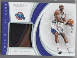 2018-19 Panini Immaculate Jazz Karl Malone Sole of The Game
