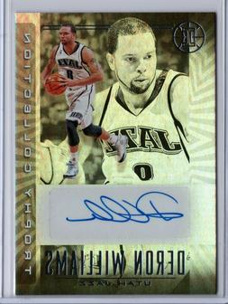 2019/20 ILLUSIONS DERON WILLIAMS TROPHY COLLECTION AUTO *GO