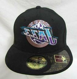 New Era 59Fifty Utah Jazz Mens Size 7 Retro High Crown Baseb