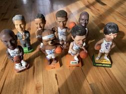 8 Vintage Utah Jazz Bobbleheads Stockton Sloan Malone Marsha