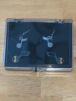 A pair of Ear Rings and Cufflinks - Utah Jazz