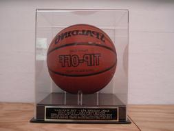 Karl Malone Basketball Display Case With A Utah Jazz Namepla