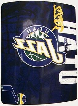 """Blanket Fleece Throw NBA Utah Jazz NEW 50""""x60"""" with prot"""