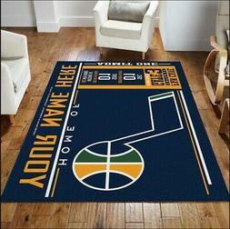 Customizable Utah Jazz Personalized NBA Area Rug Decor Floor