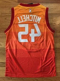 Donovan Mitchell #45 Utah Jazz Orange City Edition Mens Jers
