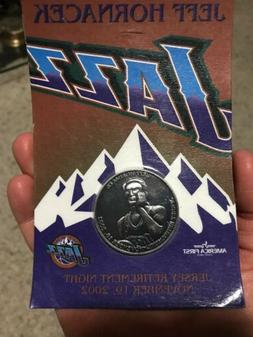 Jeff Hornacek 2002 Utah Jazz LEGEND Retirement Coin