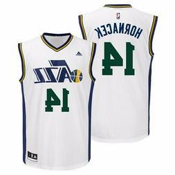 Jeff Hornacek Utah Jazz NBA Adidas Men's White Official Home