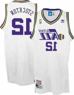 John Stockton #12 Utah Jazz Men's White Hardwood Classics Th