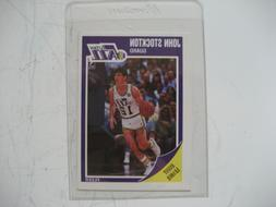 John Stockton Jazz Fleer card #156 1989 in plastic sleeve mi