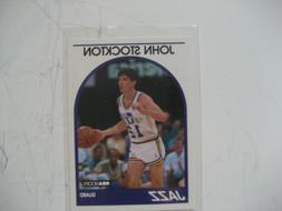 John Stockton Jazz NBA Hoops card #140 1989 in plastic sleev