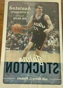 John Stockton SIGNED book Assisted Autobiography AUTOGRAPHED
