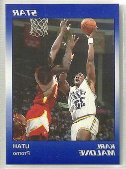 Karl Malone 1990 Star Company Utah Jazz Promo Card