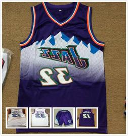 Karl Malone #32 John Stockton #12 Utah Jazz Swingman Basketb