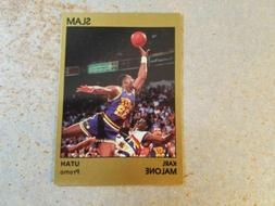 Karl Malone Utah Jazz 1990 Star Slam Promo Tan Border