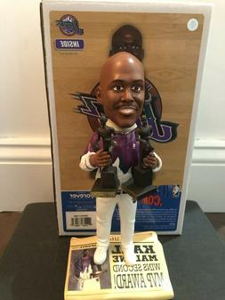 Karl Malone Utah Jazz 2 Time NBA MVP Trophy Newspaper Base B