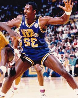 """KARL MALONE """"UTAH JAZZ"""" LICENSED NBA COLOR PHOTO 8 x 10"""