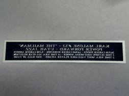 Karl Malone Utah Jazz Autograph Nameplate For A Basketball C