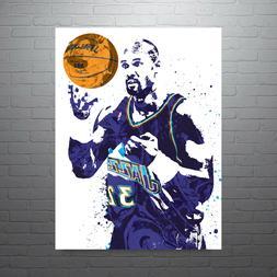 Karl Malone Utah Jazz Poster FREE US SHIPPING