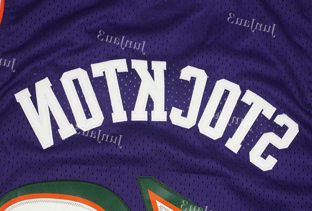 John Stockton #12 Jazz Classic Swingman Jersey Purple