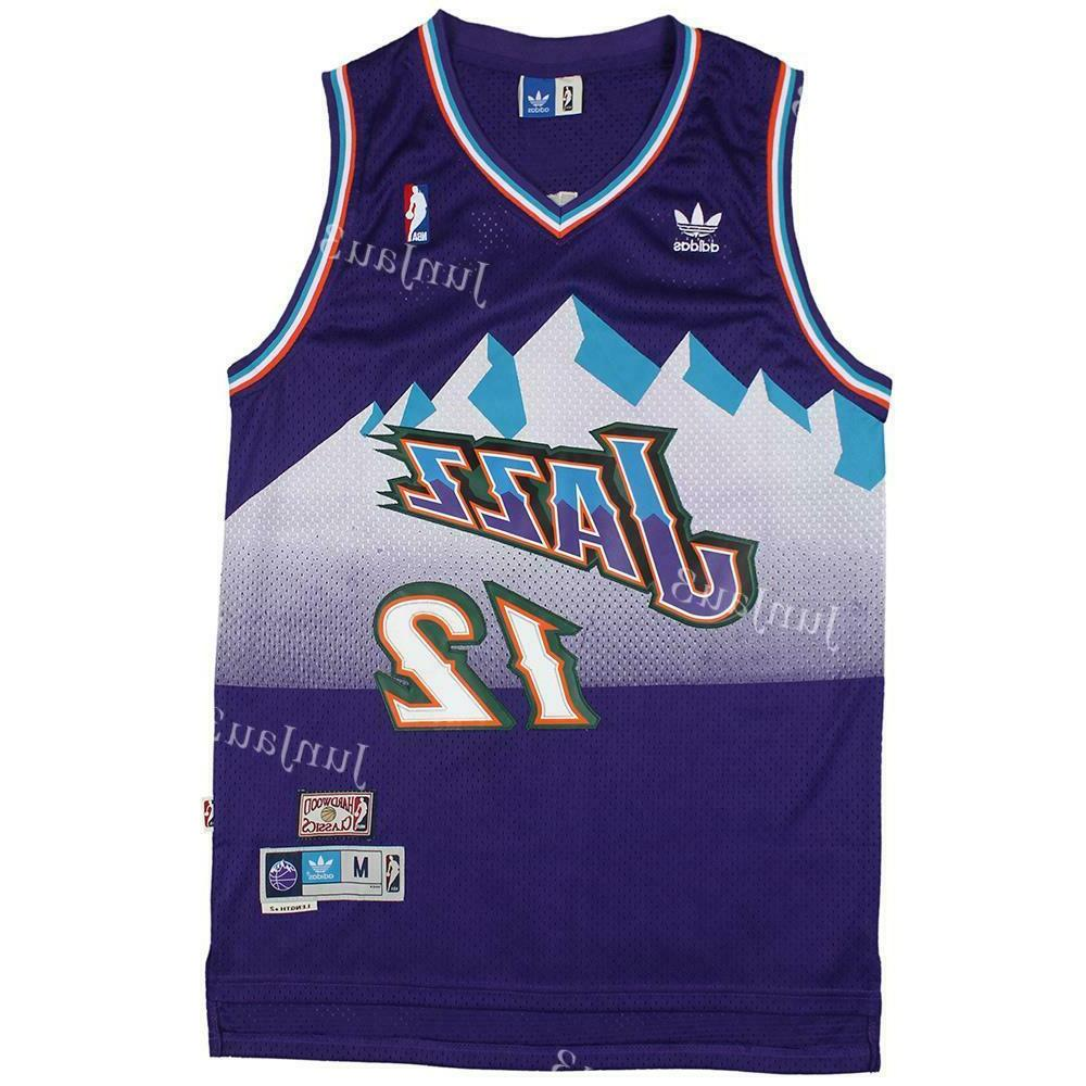 John #12 Jazz Throwback Swingman Jersey