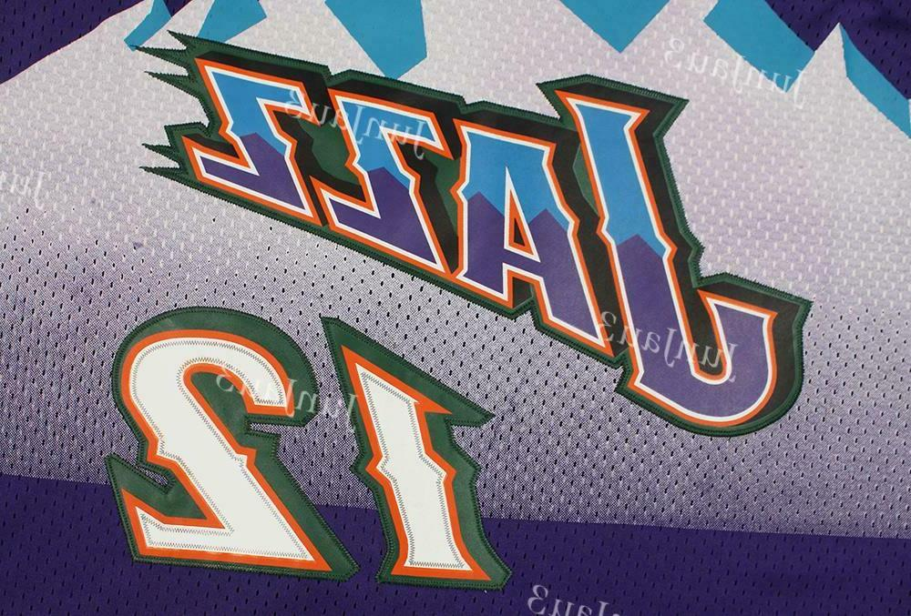 John #12 Jazz Throwback Classic Jersey Purple