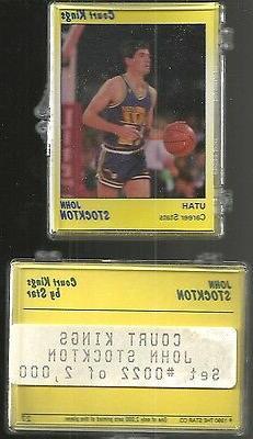 John Stockton 1990 Star Company Utah Jazz 9-card NBA Court K