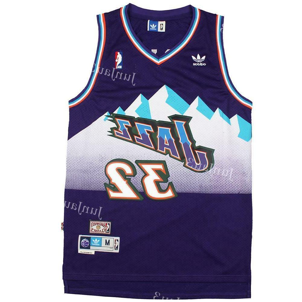 Karl Malone #32 Utah Jazz Throwback Jersey