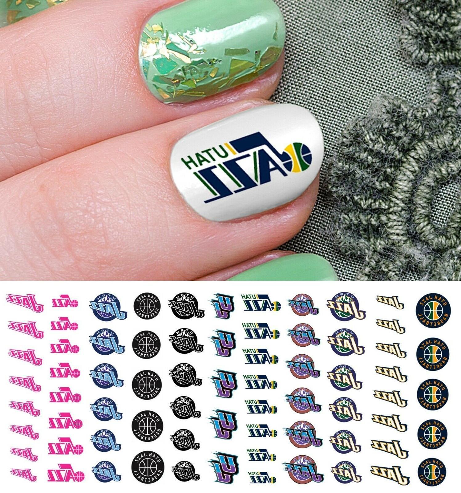 utah jazz basketball nail art decals salon