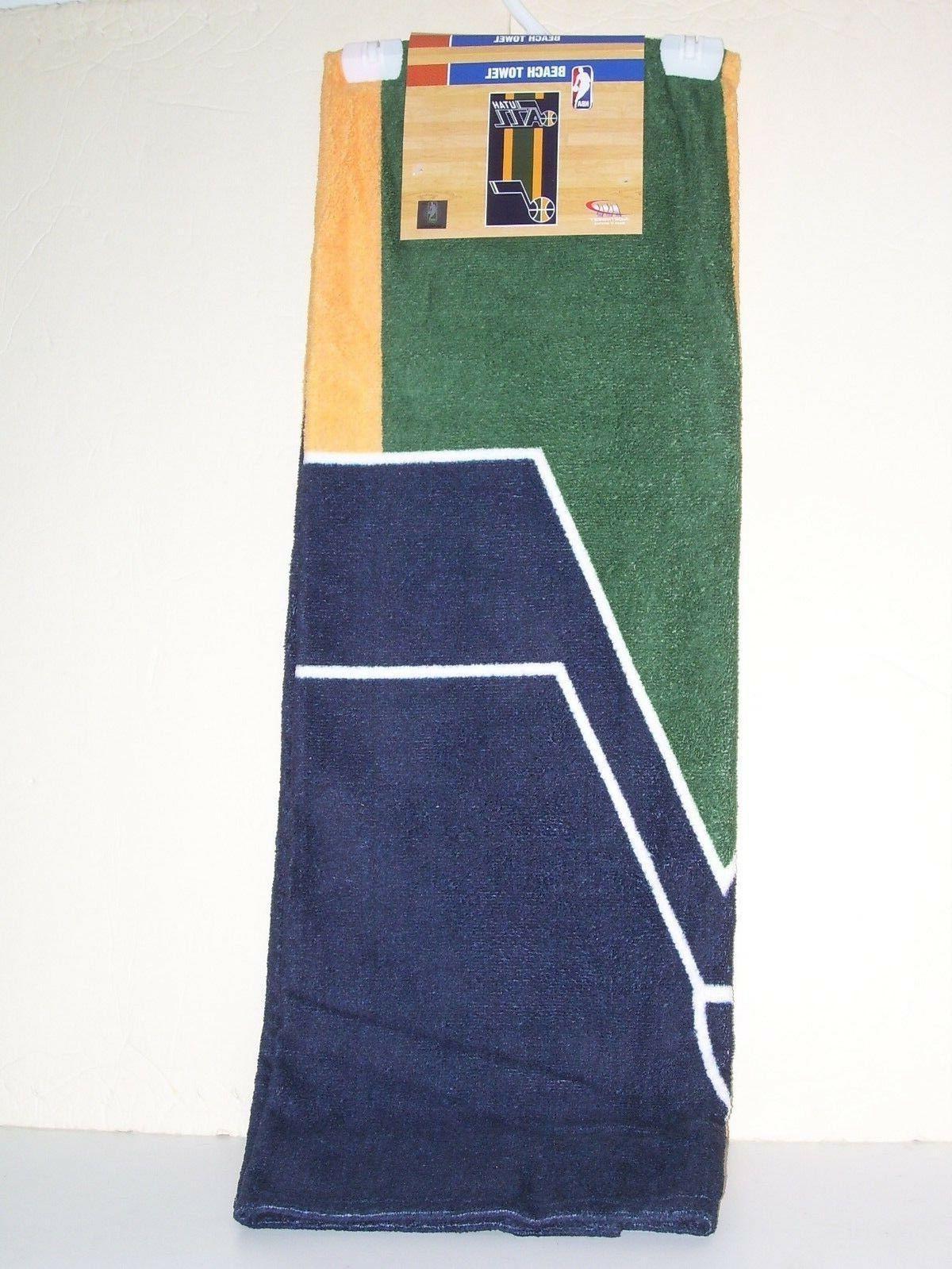 utah jazz beach towel green yellow blue