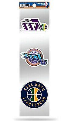 Utah Jazz Triple Retro Throwback Decals Auto Home Sticker Sh