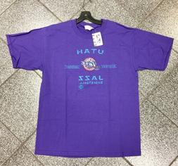 Large NWT NEW Deadstock Vintage NBA Utah Jazz NBA T-Shirt TS