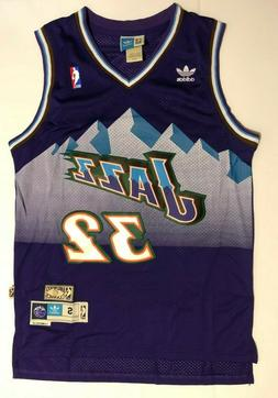 Men's Utah Jazz #32 Karl Malone Basketball Jersey