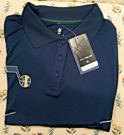 Mens Fanatics Large Utah Jazz Polo Shirt Dark Blue NEW with
