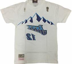 Mitchell & Ness White NBA Utah Jazz #12 John Stockton Name a