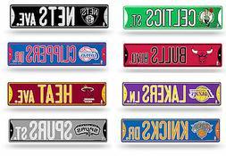 "NBA Basketball Bling Street Sign 3.75"" x 16""  - Pick Team"