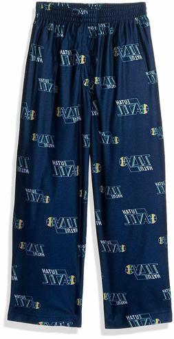 NBA Boys Utah Jazz Sleepwear Pajama Pant, M  Navy