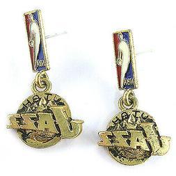 NBA Earrings Utah Jazz Decorative Gold Jewelry