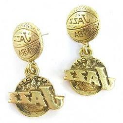 NBA Earrings Utah Jazz Fancy Gold Jewelry