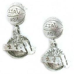 NBA Earrings Utah Jazz Silver Jewelry NEW