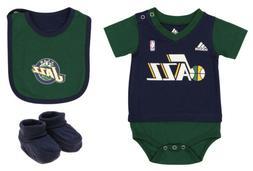 Adidas NBA Infants Utah Jazz Lil Jersey Creeper with Bib & B