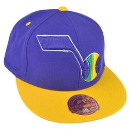 NBA Mitchell Ness Utah Jazz TU20 2 Tone XL Logo Fitted Hat C