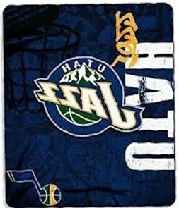 "NBA Officially Licensed Utah Jazz Side Bar 50""x60"" Fleece Th"