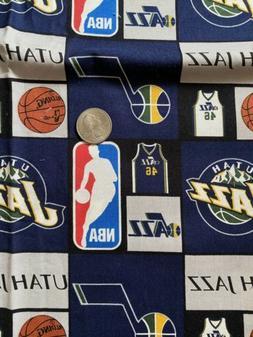 NBA Utah Jazz Basketball Cotton Fabric   8 x 42 Just Under A
