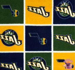 NBA Utah Jazz Block Fleece Fabric