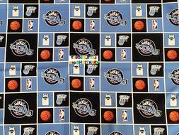 NBA UTAH JAZZ Cotton Fabric - 1/4 to 1/2 YARD - OOP & RARE