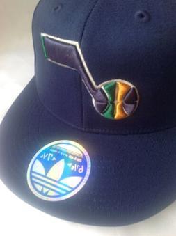 NBA Utah Jazz Flat Visor Flex Fit Adidas Cap- 6 7/8 - 7 1/4