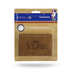 Rico Industries NBA Utah Jazz Leather Trifold Wallet with Ma